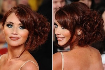 Amy Childs' Side-Swept 'Do