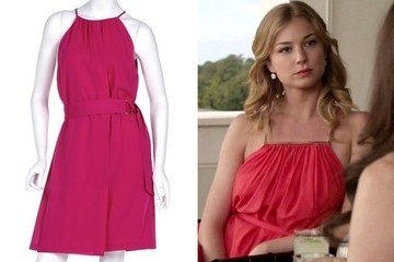 Emily VanCamp's Halter Dress on 'Revenge'