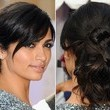 Camila Alves' Twisted and Looped Updo