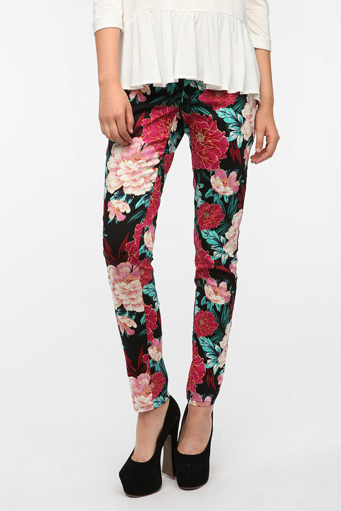 Sparkle & Fade Floral Twill Pants