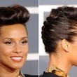 Alicia Keys' French Braid and Reverse Roll
