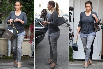 Here's How to Wear 50 Shades of Gray (Thanks Kim Kardashian)