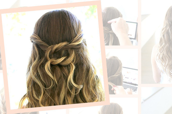 DIY the Perfect Labor Day Knotted Half Updo