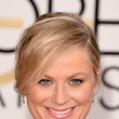Amy Poehler's Pinned Updo and Blush Lip