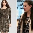 A Long Sleeve Leopard Dress Inspired by Chloe Bridges' on 'The Carrie Diaries'