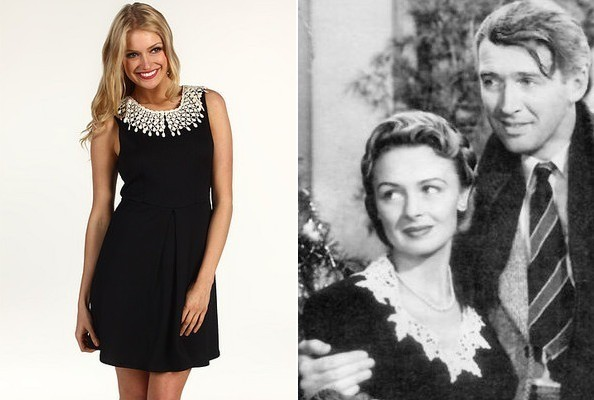 Donna Reed 39 S Collared Dress In 39 It 39 S A Wonderful Life 39 Tv Fashion Roundup December 24 2012
