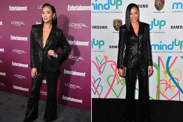 Shay Mitchell and Selita Ebanks in Rachel Zoe Collection