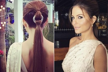 Maria Menonous Wears a Hairstyle Straight from the Runways at the 2015 Oscars