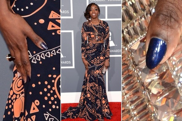 Estelle's Nail Art at the 2013 Grammy Awards