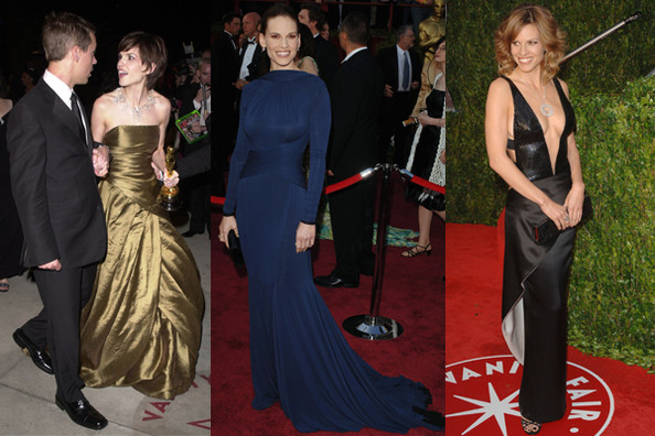 Hilary Swank Oscar Gowns Throughout The Years Stylebistro