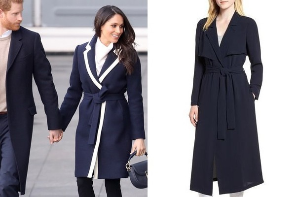 The Look: Navy Belted Coat ($179)