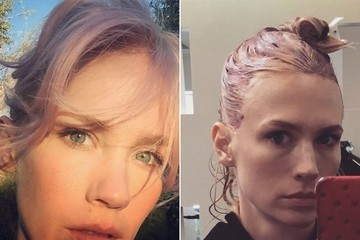 January Jones Isn't a Blonde Anymore