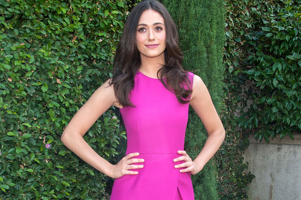 Emmy Rossum's Bright Dress