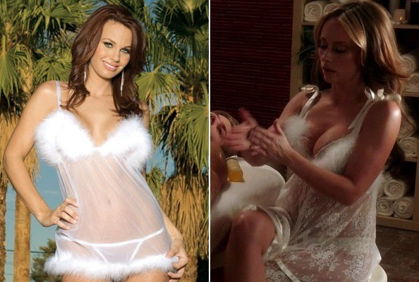 A White Marabou Negligee Like Jennifer Love Hewitt's on 'The Client List'