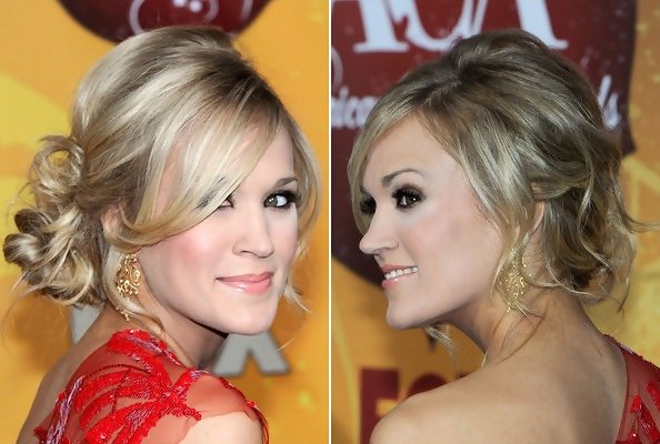 Carrie Underwood Hair Style: Carrie Underwood's Stunning Side-Swept Updo