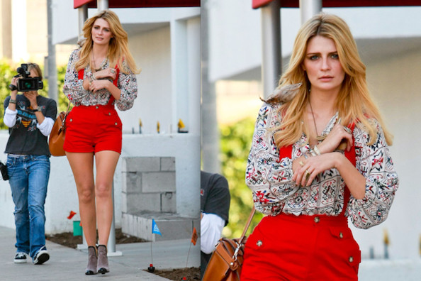 Hot or Not: Mischa Barton's High-Waisted Overall Shorts