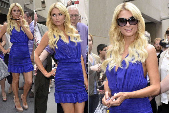Look of the Day: Paris Hilton Is Pretty in Purple