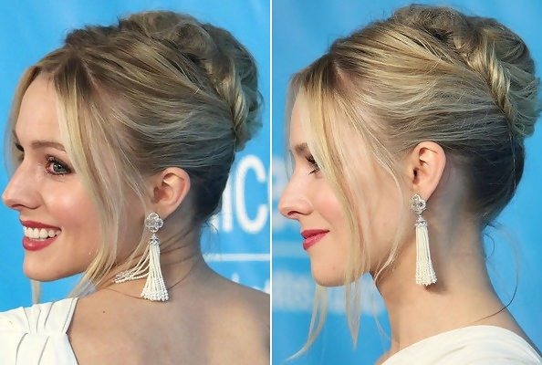 Kristen Bell S Twice Twisted French Twist Do It Yourself