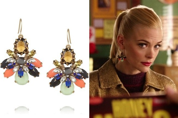 Jaime King's Gemstone Earrings on 'Hart of Dixie'