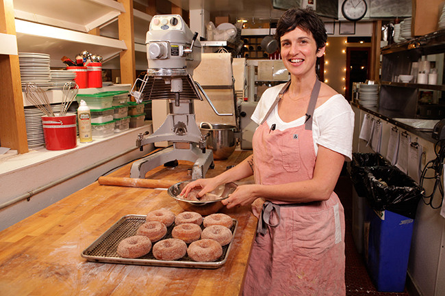 Chef Zoe Nathan, who teaches Salted's pastry baking videos.