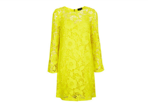 Bright Yellow Shift Dress Trend Alert Bright Summer Lace