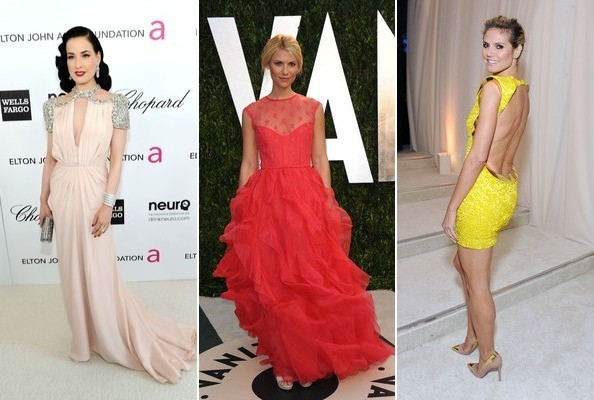 Best and Worst Dressed at the 2012 Oscars Parties