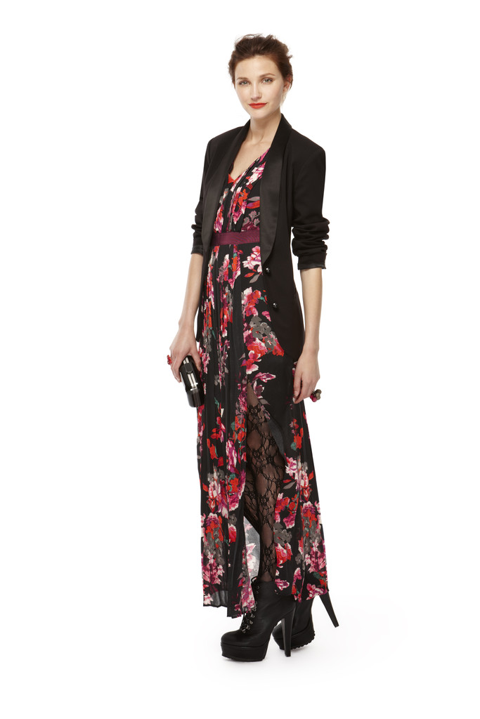 Floral Maxi Dress And Blazer Combo Kirna Zabete For