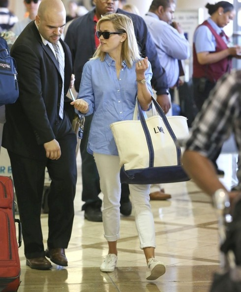 Important Discovery: Reese Witherspoon Monograms Her L.L. Bean Totes
