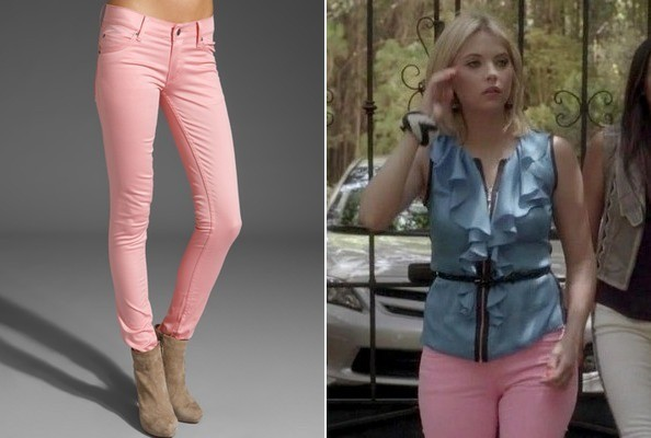 Ashley Benson's Pink Jeans on 'Pretty Little Liars'