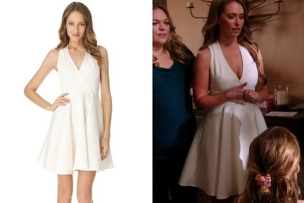 Jennifer Love Hewitt's White Full Skirted Dress on 'The Client List'