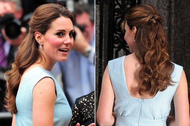 cascading curls the many half updos of kate middleton