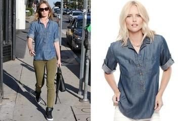 Found: Emily Blunt's Denim Shirt