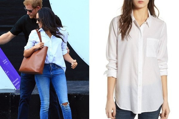 The Look: White Button-Down Shirt ($69)