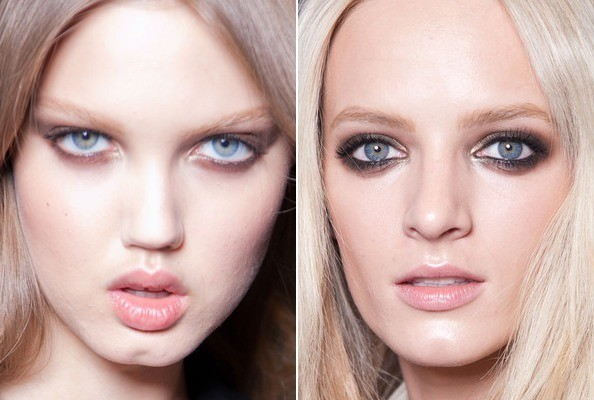 Smoky Eyes at Versace Spring 2013