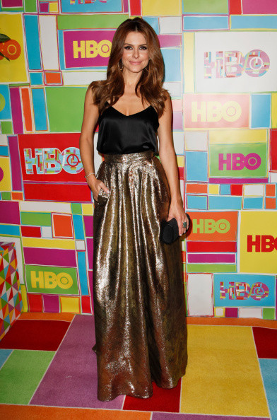 Maria Menounos Gold Johanna Johnson skirt
