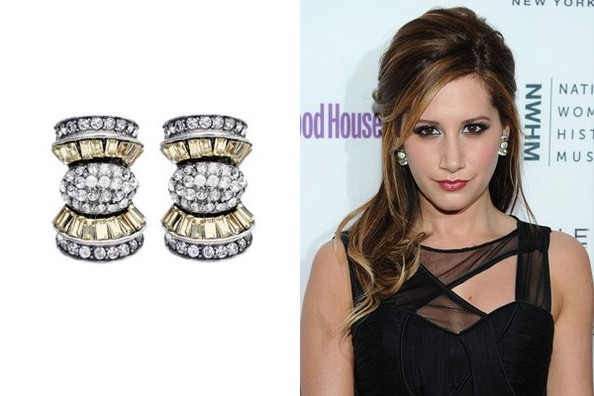 Ashley Tisdale Shines on in Earrings by Ben-Amun