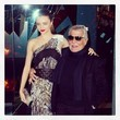 Miranda Kerr Hagns with Roberto Cavalli