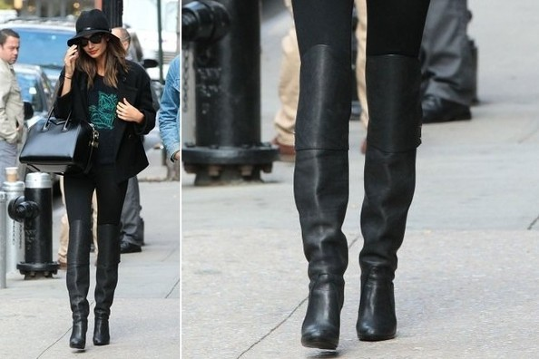 Lily Aldridge's Over-the-Knee Boots
