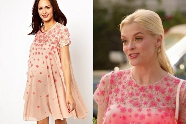 Jaime King's Floral Applique Swing Dress on 'Hart of Dixie'