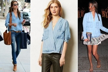 Fashion Obsession: Denim Boho Blouse from Anthropologie