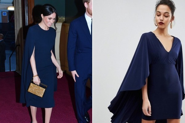 The Look: Navy Cape Dress ($42)