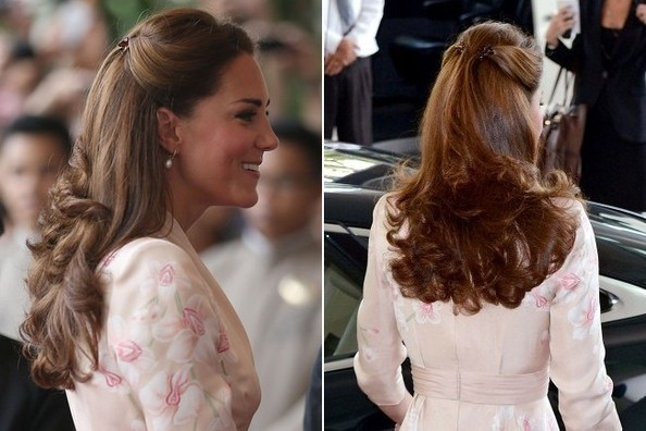 Clipped Back - The Many Half Updos of Kate Middleton ...