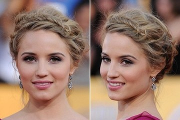 Spring Time Hair To Try: Dianna Agron's Flirty Fishbone Braid