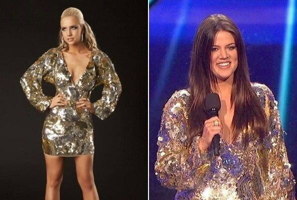 Khloe Kardashian's Sequined Dress on 'The X Factor'