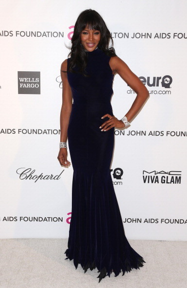 Naomi Campbell at Elton John's 2013 Oscars Party