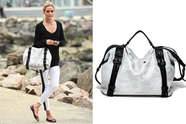 Olivia Palermo carrying She + Lo Bag
