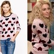 AnnaSophia Robb's Heart-Print Sweater on 'The Carrie Diaries'