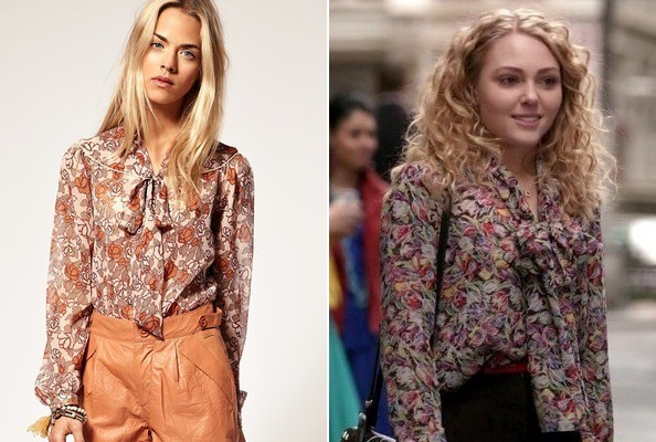 AnnaSophia Robb's Tie Neck Blouse on 'The Carrie Diaries'