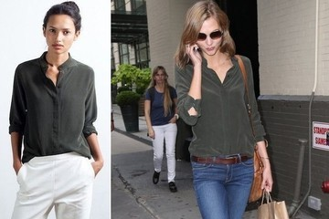 Found: Karlie Kloss' Perfect Silk Shirt