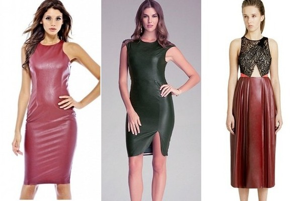 Trend to Try: Colored Leather Dresses